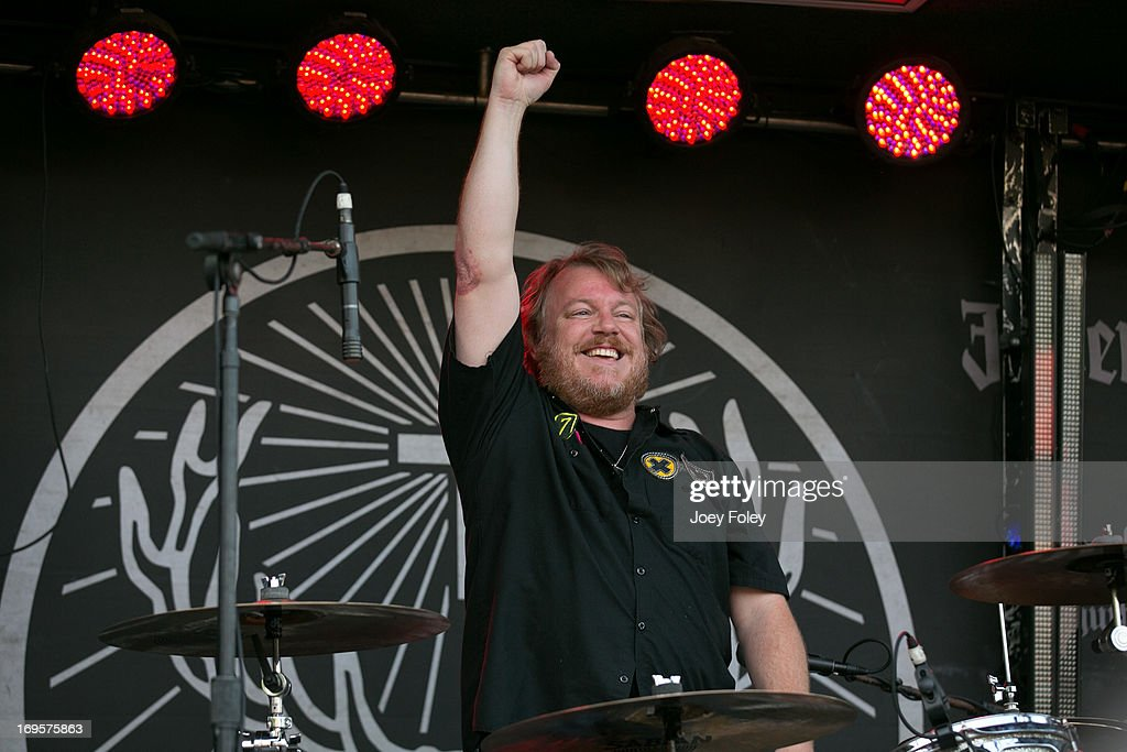 Drummer Steve Brown of Oleander performs during 2013 Rock On The Range at Columbus Crew Stadium on May 17, 2013 in Columbus, Ohio.
