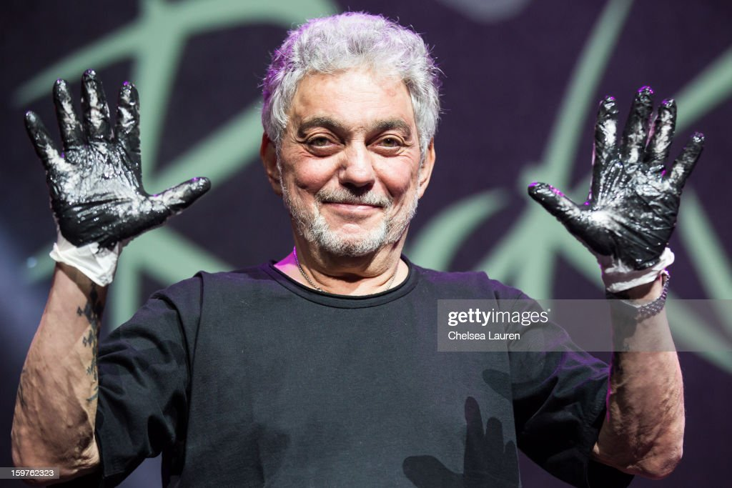Drummer Steve Gadd is inducted into the Guitar Center Rock Walk at Guitar Center's 'Drum Off' grand final at Club Nokia on January 19, 2013 in Los Angeles, California.