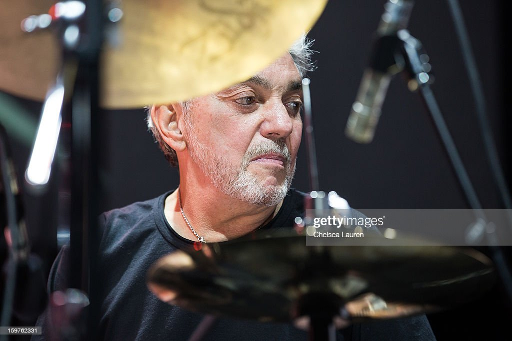 Drummer Steve Gadd performs at Guitar Center's 'Drum Off' grand final at Club Nokia on January 19, 2013 in Los Angeles, California.