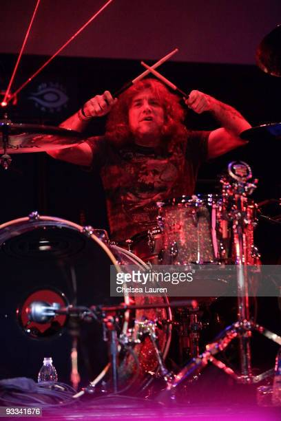Drummer Steven Adler performs at the Los Angeles Youth Network benefit rock concert at Avalon on November 22 2009 in Hollywood California