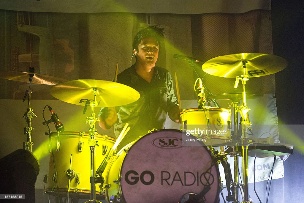 Drummer Steven Kopacz of Go Radio performs live onstage at The Irving Theater on November 28, 2012 in Indianapolis, Indiana.