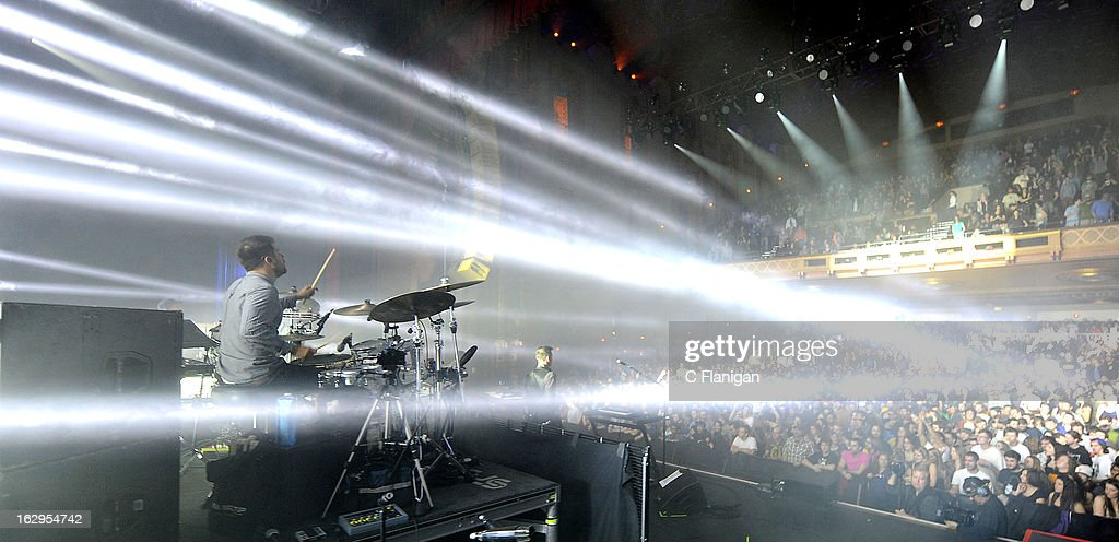 Drummer Zach Velmer and Sound Tribe Sector 9 perform at The Fox Theatre on March 1 2013 in Oakland California