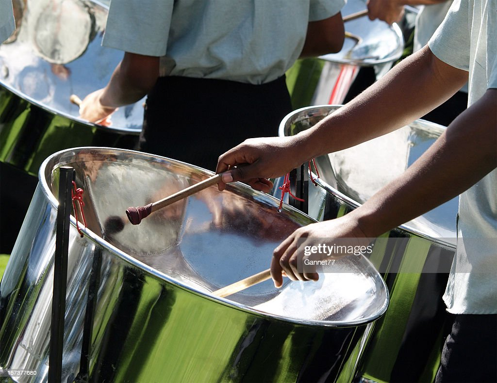 Drummers in a Steel Band
