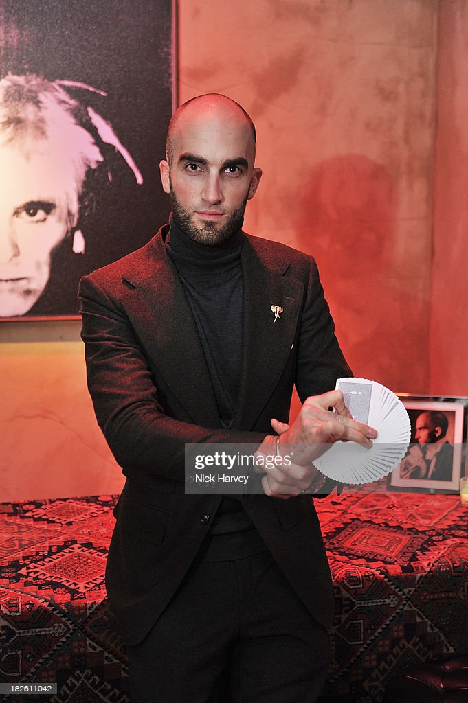 Drummond Money-Coutts attends Baku Cellar 164 for an exclusive show by Gavin Turk, in collaboration with A Space for Art and Baku Magazine in support of The House of Fairytales on October 1, 2013 in London, England.