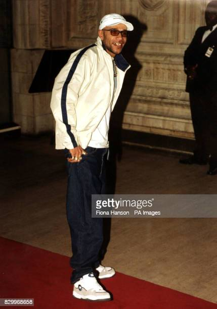 22/10/97 Drum'n'bass dance artist Goldie at the Royal Albert Hall in London for the Lloyds Bank Fashion Awards Photo by Fiona Hanson/PA