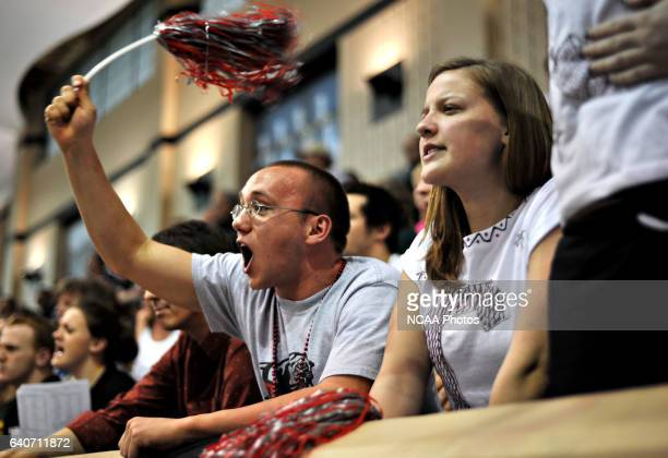 Drury University freshman fans Michael Laupp and Aleah Niemczyk traveled from Springfield MO to cheer their school during the Division II Swimming...