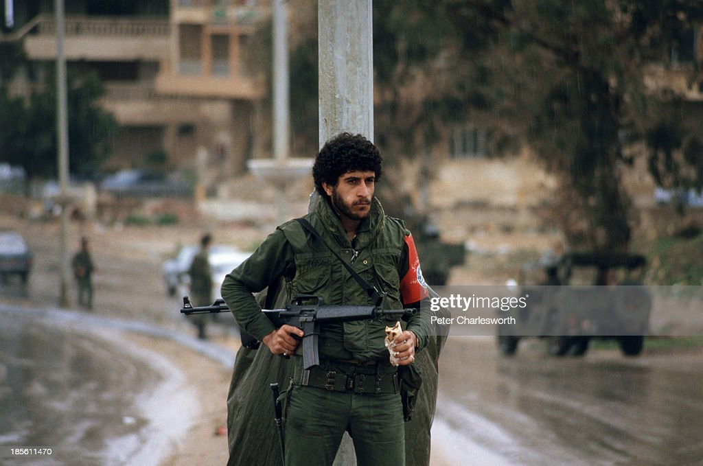 Druze militiamen man a checkpoint during a bitter power struggle with Sunni Mourabitoun militiamen in West Beirut After days of bitter fighting that...