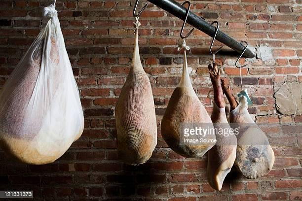Dry cured prosciutto hams