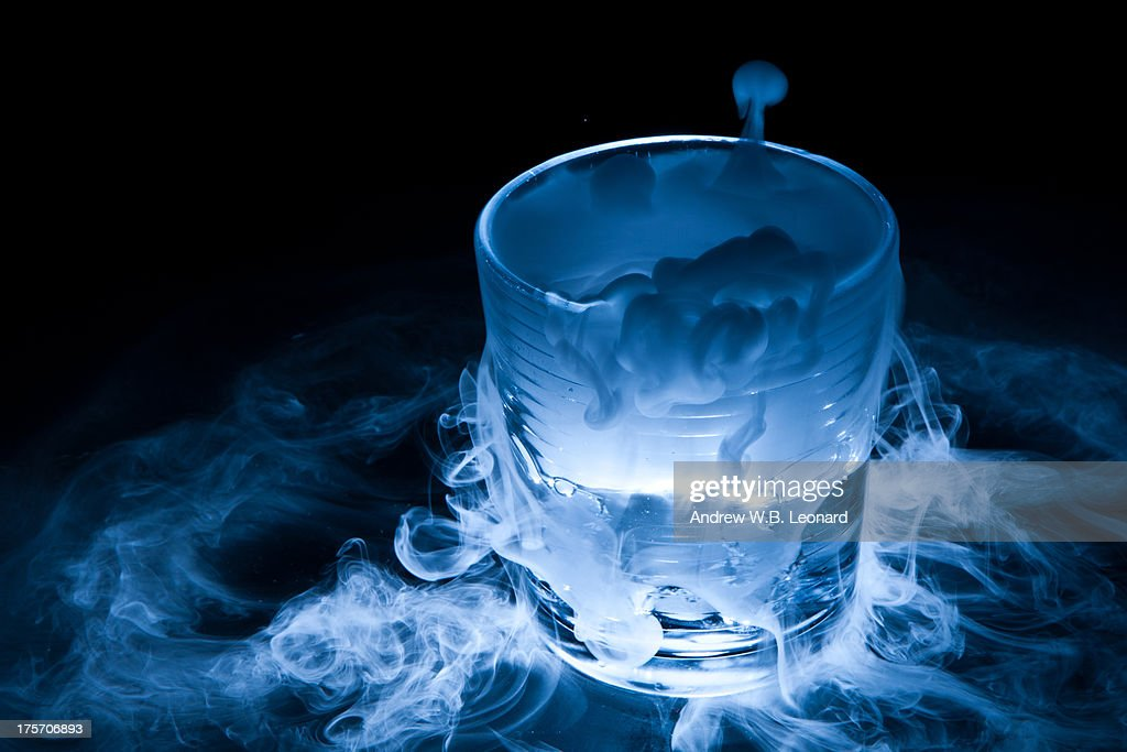 Dry Ice Sublimation From Drinking Glass Stock Photo ...
