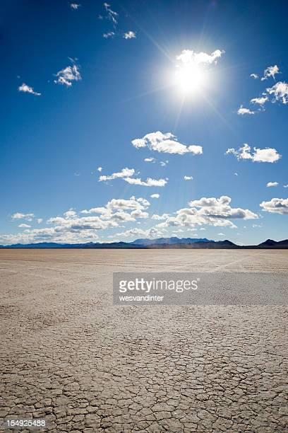 Dry Lake Bed and Sun