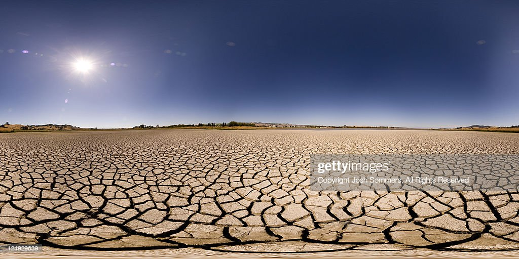Dry lake bed : Stock Photo