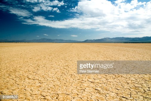 Dry lake bed. : Stock Photo