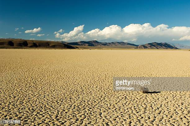 Dry Lake Bed with Rock & Shadow