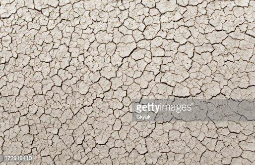 dry lake surface