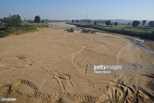 Dry river bed in central India
