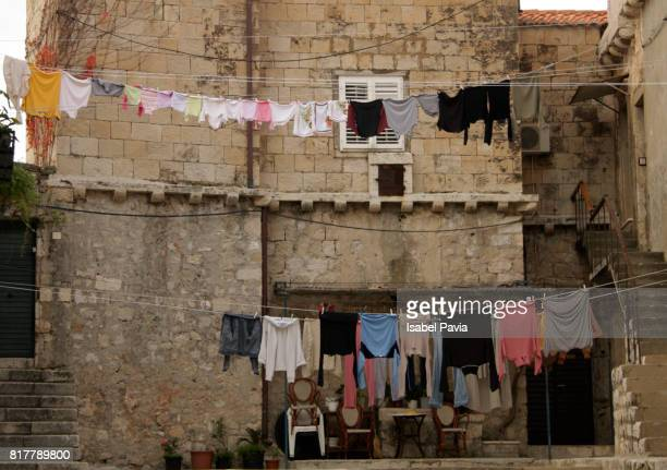 Drying clothes in Dubrovnik street, Croatia