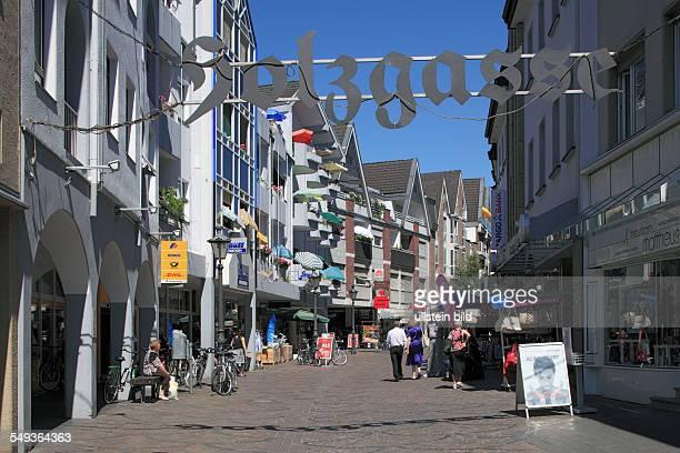 DSiegburg Rhineland North RhineWestphalia NRW pedestrian zone Holzgasse shopping street