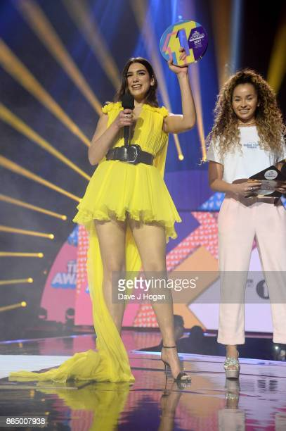 Dua Lipa and Ella Eyre attend the BBC Radio 1 Teen Awards 2017 at Wembley Arena on October 22 2017 in London England