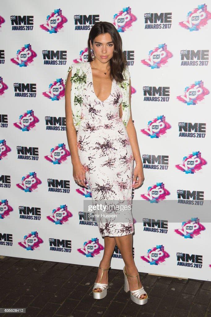 Dua Lipa arrives at the VO5 NME awards 2017 on February 15, 2017 in London, United Kingdom.
