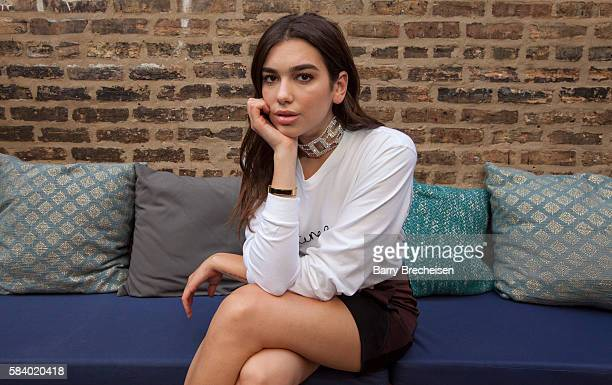 Dua Lipa at RM Champagne for a preLollapalooza event on July 27 2016 in Chicago Illinois