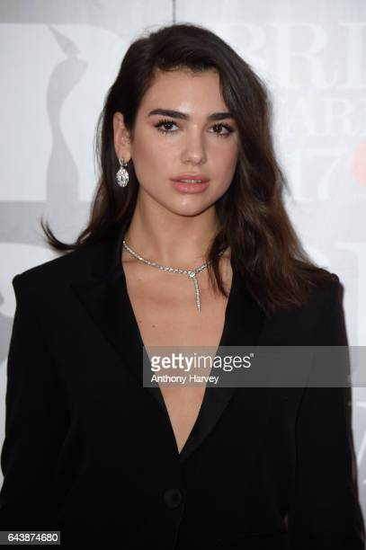 Dua Lipa attends The BRIT Awards 2017 at The O2 Arena on February 22 2017 in London England