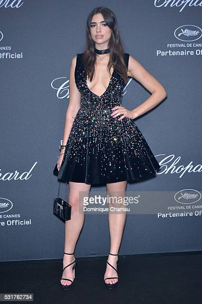 Dua Lipa attends the Chopard Party at Port Canto during the 69th annual Cannes Film Festival on May 16 2016 in Cannes France