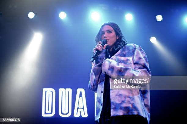 Dua Lipa performs at Belasco Theatre on March 15 2017 in Los Angeles California
