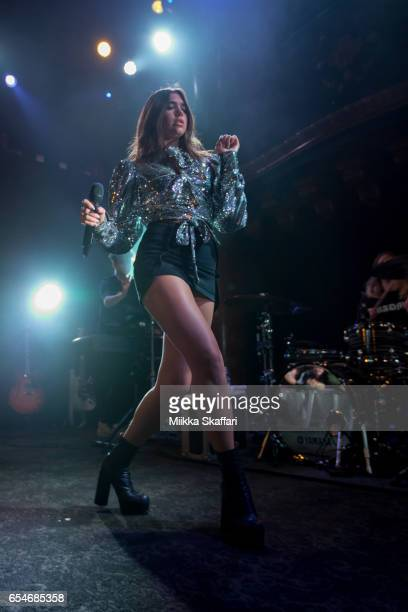 Dua Lipa performs at Great American Music Hall on March 17 2017 in San Francisco California