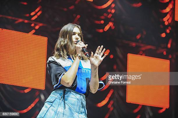 Dua Lipa performs at Radio City Christmas Live at Echo Arena on December 17 2016 in Liverpool England