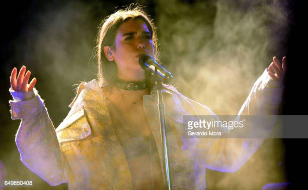 Dua Lipa performs at The Social Venue on March 8 2017 in Orlando Florida