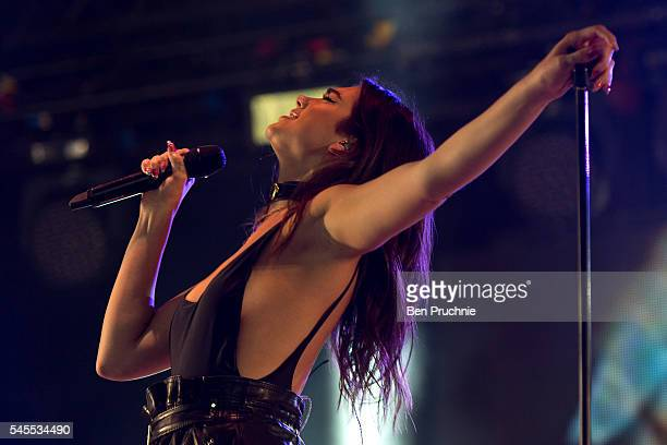 Dua Lipa performs at the Wireless Festival at Finsbury Park on July 8 2016 in London England