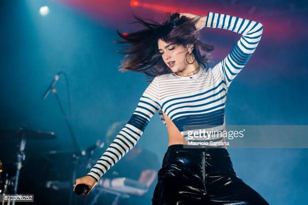 Dua Lipa performs live on stage at Audio Club on November 9 2017 in Sao Paulo Brazil