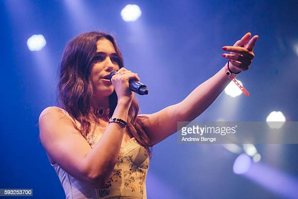 Dua Lipa performs on the Heineken Stage during day 3 of Lowlands Festival 2016 on August 21 2016 in Biddinghuizen Netherlands