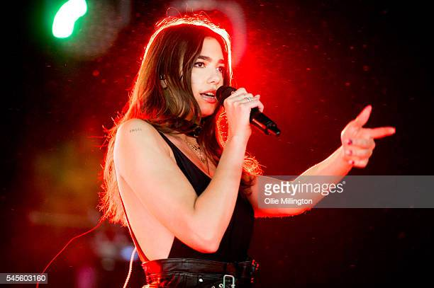 Dua Lipa performs onstage during Day 1 of Wireless Festival 2016 at Finsbury Park on July 8 2016 in London England