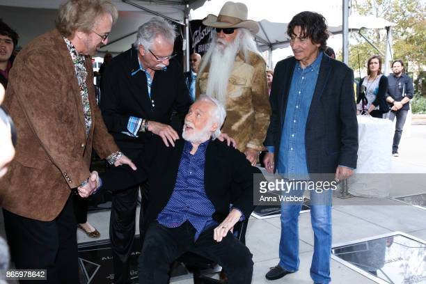 Duane Allen Joe Bonsall William Lee Golden and Richard Sterban of the Oak Ridge Boys with Kenny Rogers attend as Kenny Rogers is inducted into the...