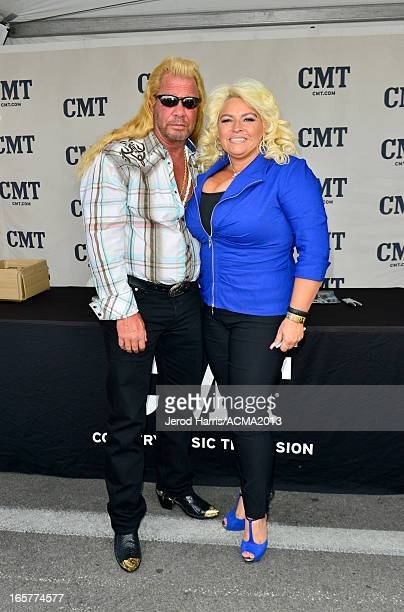 Duane Chapman aka Dog the Bounty Hunter and Beth Chapman attend the ACM Experience during the 48th Annual Academy of Country Music Awards at the...