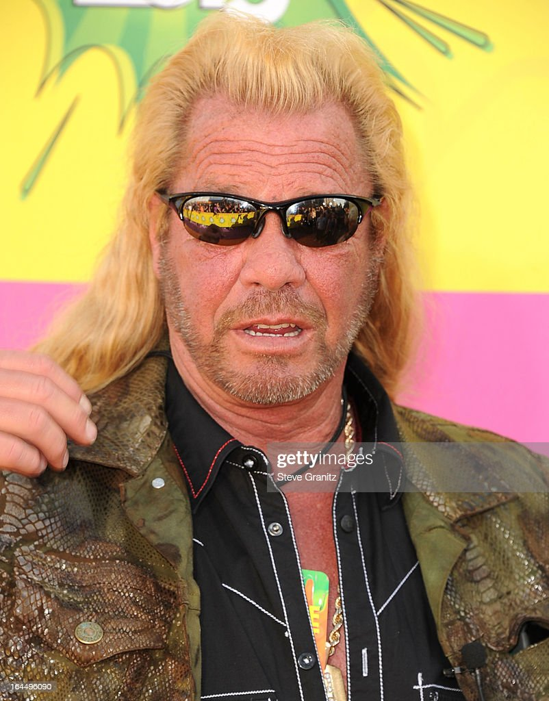 Duane Chapman, aka Dog the Bounty Hunter arrives at the Nickelodeon's 26th Annual Kids' Choice Awards at USC Galen Center on March 23, 2013 in Los Angeles, California.