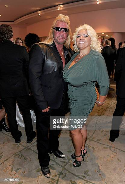 Duane Chapman and Beth Smith Chapman attend the wedding of Gene Simmons and Shannon Tweed at the Beverly Hills Hotel on October 1 2011 in Los Angeles...