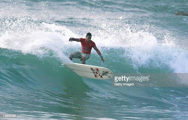 Duane DeSoto of Hawaii USA eliminated Leo Ranzoni of Italy to advance to round three of the Oxbow World Longboard Championships at La Rocca in Cabo...