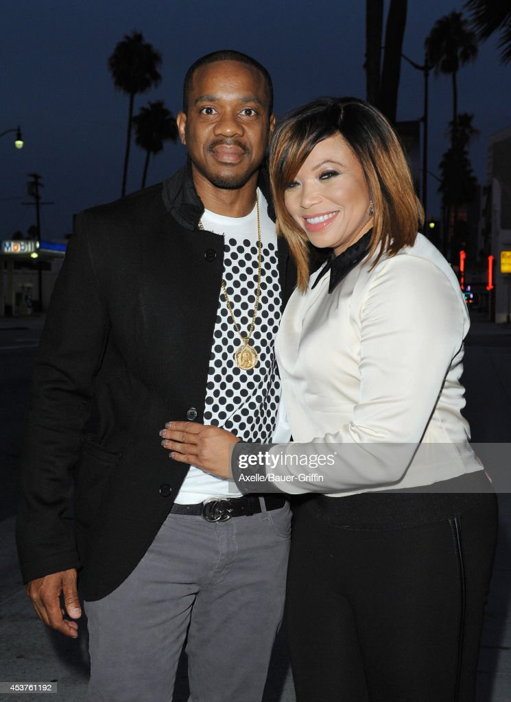 <a gi-track='captionPersonalityLinkClicked' href=/galleries/search?phrase=Duane+Martin&family=editorial&specificpeople=224682 ng-click='$event.stopPropagation()'>Duane Martin</a> and actress Tisha Campbell attend Vivica A. Fox's 50th birthday celebration at Philippe Chow on August 2, 2014 in Beverly Hills, California.