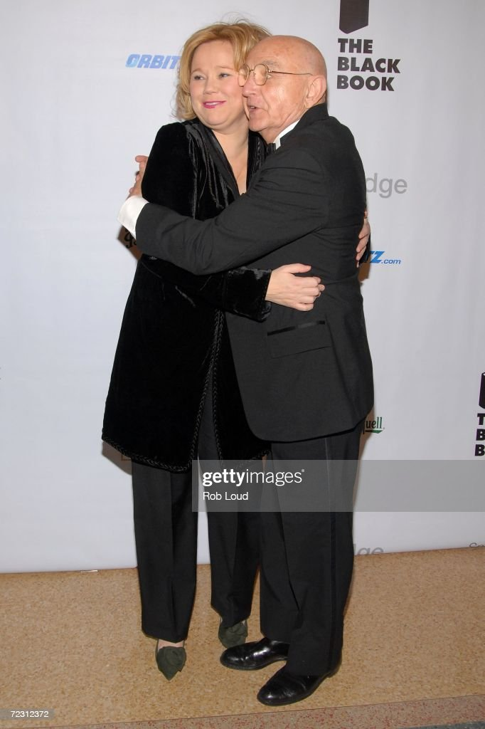 Duane Michals, an achievement in portraiture honoree, and comedian Caroline Rhea arrive for the 4th Annual Lucie Awards at the American Airlines Theatre October 30, 2006 in New York City.