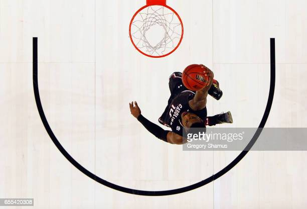 Duane Notice of the South Carolina Gamecocks dunks the ball in the second half against the Duke Blue Devils during the second round of the 2017 NCAA...