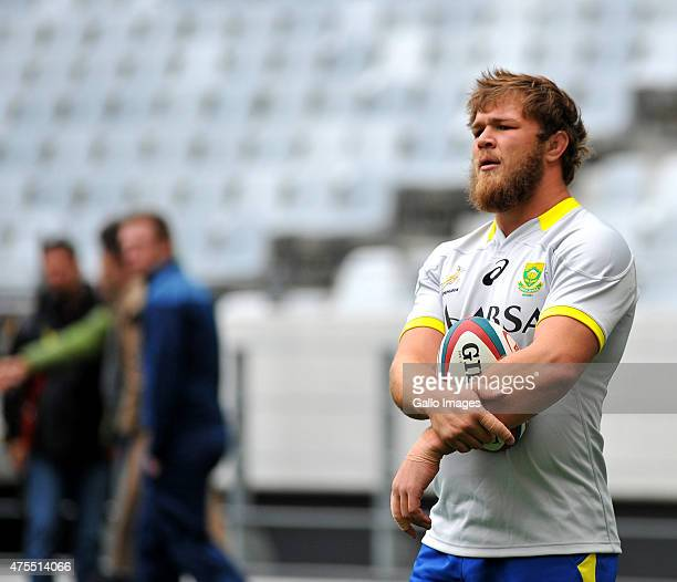 Duane Vermeulen during the Springboks training session at Cape Town Stadium on June 01 2015 in Cape Town South Africa