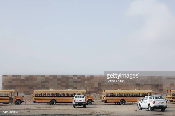 Dubai Abu Dhabi Bus School bus Site Highway UAE Emirates