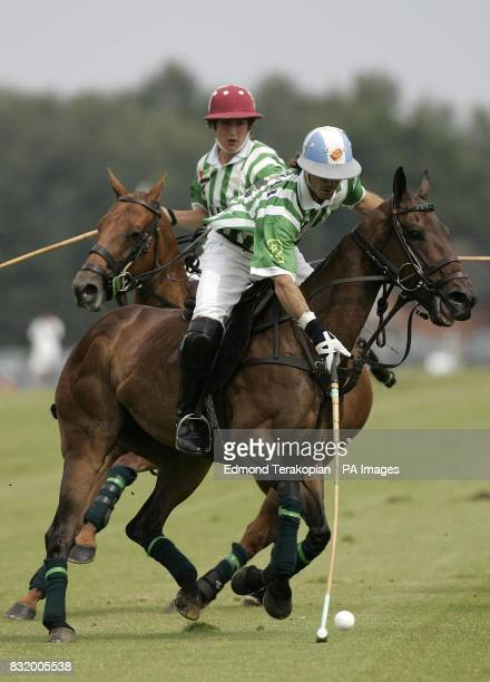 Dubai and the Broncos take part in the Queen's Cup Final at the Guards Polo Club Windsor Great Park