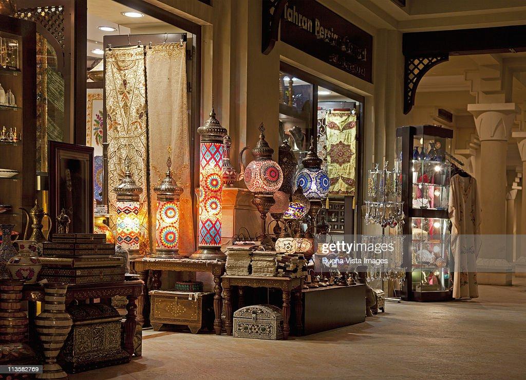 Dubai, Antiques shop in a mall