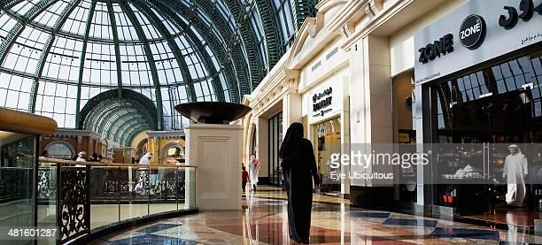UAE Dubai Arab Emirati woman in black at Dubai Mall