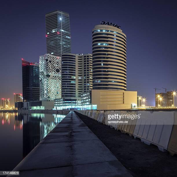 Dubai business bay cityscape at night
