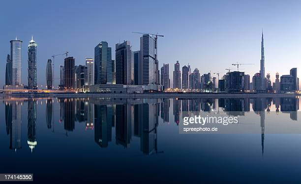 Dubai business bay Skyline with reflections