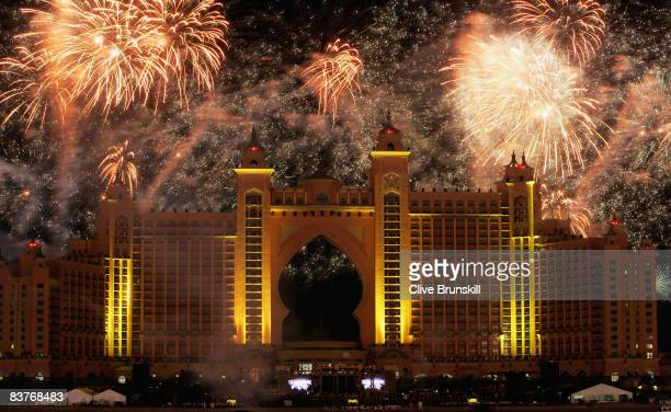 Dubai celebrates the landmark Grand Opening of Atlantis The Palm Resort and the Palm Jumeirah during unprecedented pyrotechnics and illumination...